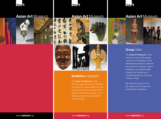 Asian Art Museum brochure and rack cards