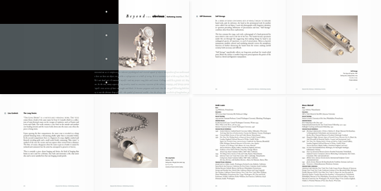 Beyond the Obvious exhibition catalog spreads