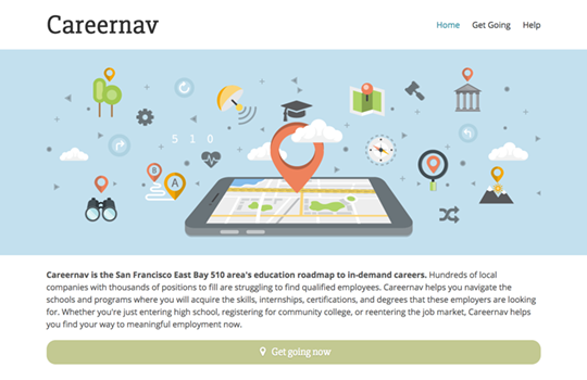 Careernav responsive website home page