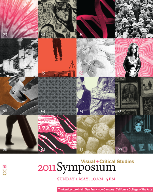 California College of the Arts symposium poster