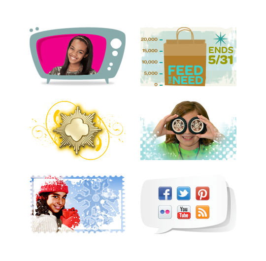 Girl Scouts web and social media tiles