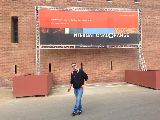 International Orange exhibition billboard