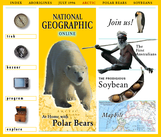 National Geographic website design proposal