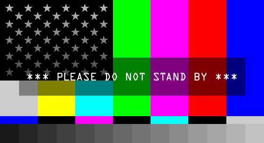 Please Do Not Stand By social media banner
