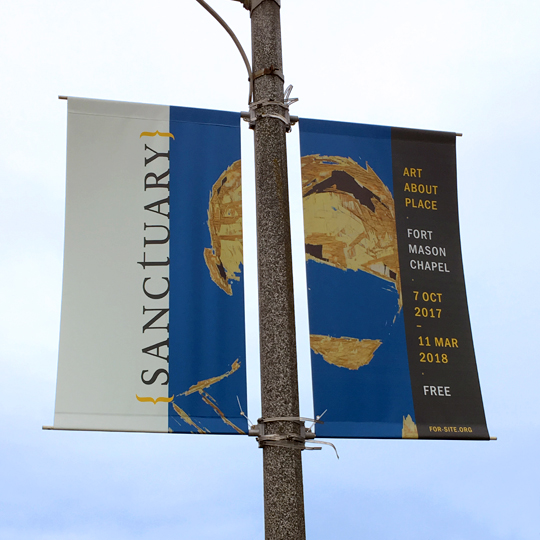 Sanctuary street pole banners