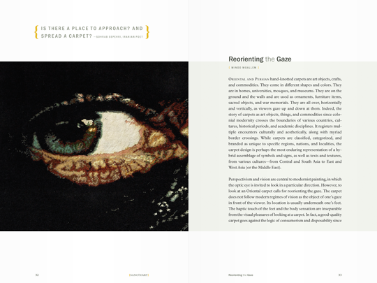 Sanctuary exhibition catalog spread