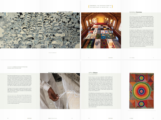 Sanctuary exhibition catalog spreads