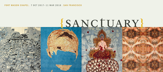 Sanctuary exhibition rack card