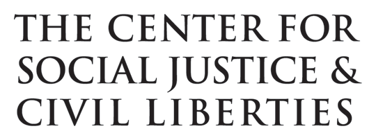 Center for Social Justice and Civil Liberties typography