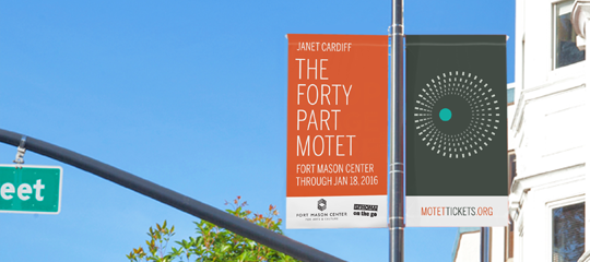 The Forty Part Motet exhibition street pole banners