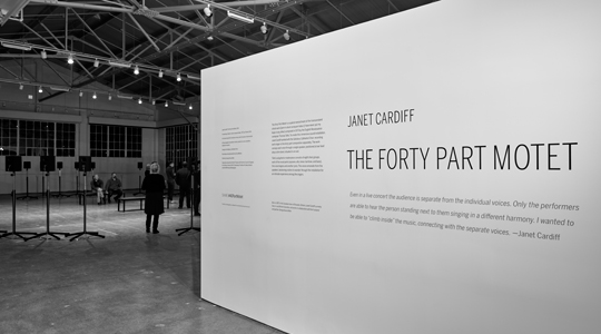The Forty Part Motet exhibition gallery signage